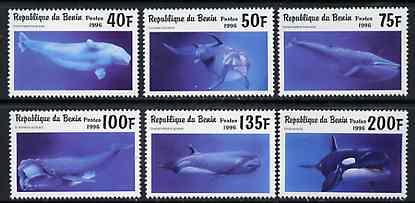 Benin 1996 Whales & Dolphins complete set of 6 unmounted mint, Mi 862-67*
