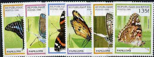 Benin 1996 Butterflies complete set of 6 unmounted mint, Mi 778-83*