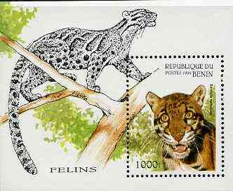 Benin 1996 Wild Cats perf m/sheet (1000f value) unmounted mint Mi BL 19
