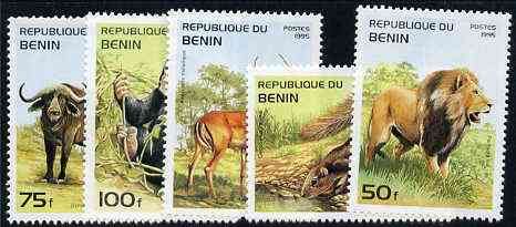 Benin 1995 Mammals complete set of 5, SG 1315-19, Mi 691-95 unmounted mint*