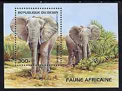 Benin 1995 Mammals (Elephants) m/sheet, SG 1320, Mi BL 13 unmounted mint