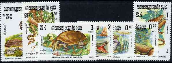 Kampuchea 1983 Reptiles complete unmounted mint set of 7, SG 454-60, Mi 496-502*
