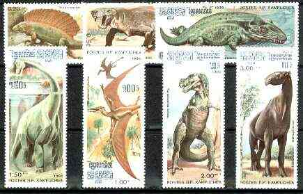 Kampuchea 1986 Prehistoric Animals complete unmounted mint set of 7, SG 699-705, Mi 741-47*