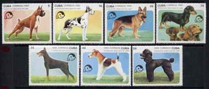 Cuba 1992 Dogs complete set of 7 unmounted mint, SG 3708-14, Mi 3558-64*