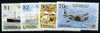 Liberia 1994 50th Anniversary of end of World War II set of 4 unmounted mint, Mi 1619-22*