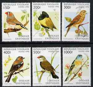 Togo 1996 Exotic Birds unmounted mint complete set of 6, Mi 2473-78*
