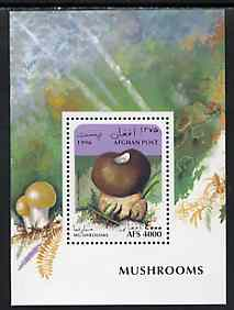 Afghanistan 1996 Mushrooms perf m/sheet (4000a) unmounted mint
