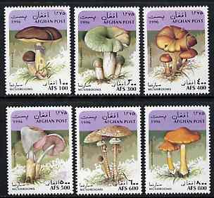 Afghanistan 1996 Mushrooms complete set of 6 unmounted mint*