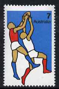 Australia 1974 Australian Football 7c from Non-Olympic Sports set of 7 unmounted mint, SG 571*