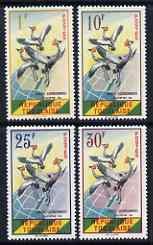 Togo 1961 Crowned Cranes set of 4 unmounted mint, SG 272-75, Mi 304-07