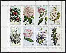 Staffa 1972 Flowers #02 perf set of 8 values (1p to 50p) unmounted mint