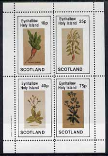 Eynhallow 1982 Vegetables (Raddish, Lettuce, etc) perf set of 4 values (10p to 75p) unmounted mint