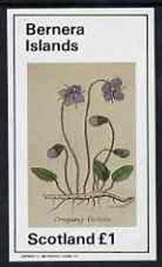 Bernera 1982 Violets (Creeping V) imperf souvenir sheet (�1 value) unmounted mint