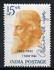 India 1961 Birth Centenary of Rabindranath Tagore (Poet) unmounted mint SG 439*