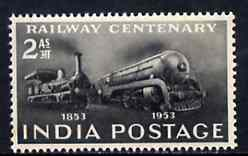 India 1953 Railway Centenary unmounted mint, SG 343