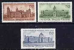 India 1962 Centenary of Indian High Courts unmounted mint set of 3, SG 456-58*