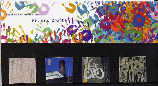 Great Britain 2000 Millennium Projects #05 - Art & Craft set of 4 in official presentation pack SG 2142-45