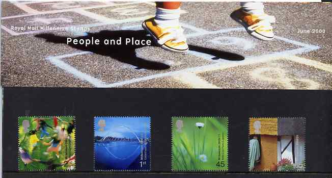 Great Britain 2000 Millennium Projects #06 - People & Places set of 4 in official presentation pack SG 2148-51