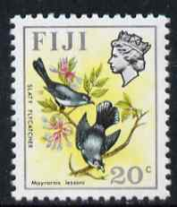 Fiji 1972 Slaty Flycatcher 20c (wmk sideways) from Birds & Flowers def set unmounted mint, SG 467
