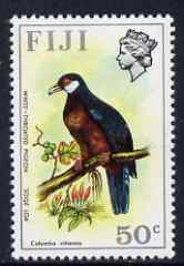 Fiji 1975 White-Throated Pigeon 50c from Birds & Flowers def set, unmounted mint SG 518*