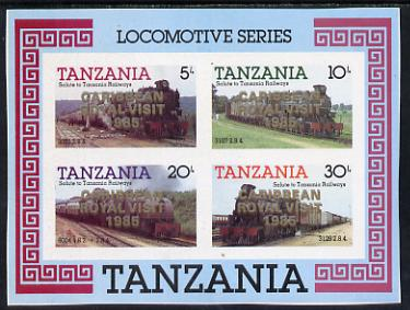 Tanzania 1985 Locomotives unmounted mint imperf proof m/sheet with