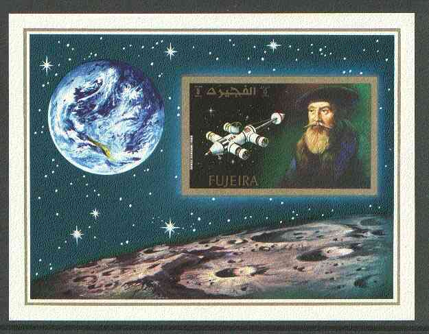 Fujeira 1971 400th Anniversary of Kepler's Birth imperf m/sheet unmounted mint, Mi BL 88B