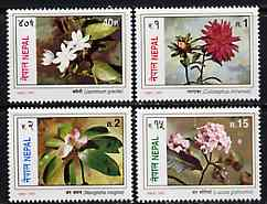 Nepal 1997 Flowers perf set of 4 unmounted mint, SG 662-65*