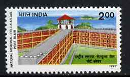 India 1997 Port Blair Cellular Jail, unmounted mint SG 1766*