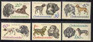 Czechoslovakia 1973 Hunting Dogs unmounted mint set of 6, SG 2116-21, Mi 2154-59
