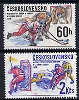 Czechoslovakia 1978 Ice Hockey 60h & 2ks from Sports Events set of 6 unmounted mint, SG 2398 & 2400, Mi 2435-36