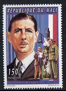 Mali 1995 Charles De Gaulle 150F from Personalities set