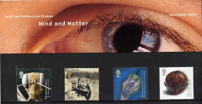 Great Britain 2000 Millennium Projects #09 - Mind & Matter set of 4 in official presentation pack SG 2162-65