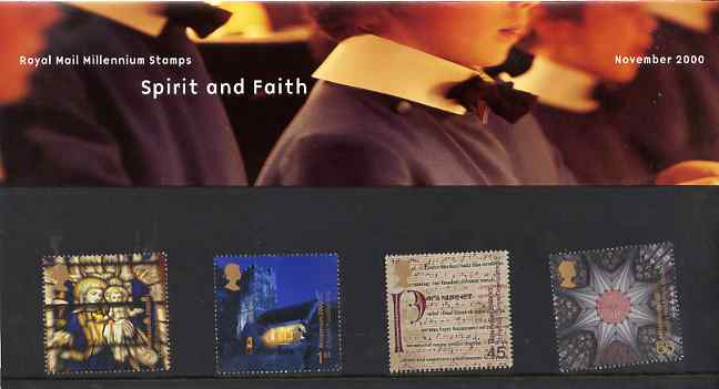 Great Britain 2000 Millennium Projects #11 - Spirit & Faith set of 4 in official presentation pack SG 2170-73