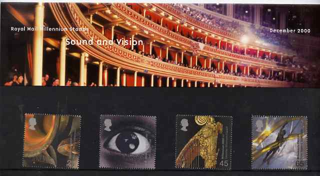 Great Britain 2000 Millennium Projects #12 - Sound & Vision set of 4 in official presentation pack SG 2174-77