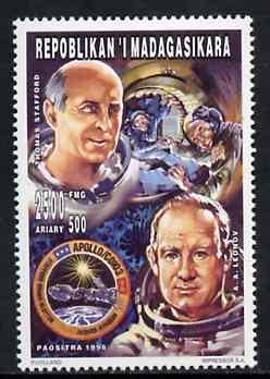Madagascar 1996 Astronauts Leonov & Stafford 2500+500F from Personalities set unmounted mint