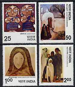 India 1978 Modern Indian Paintings unmounted mint set of 4, SG 882-85