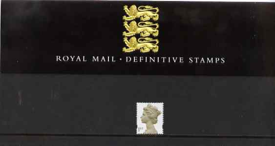 Great Britain 2000 Machin definitive (First Class) in official presentation pack (Pack number 48)