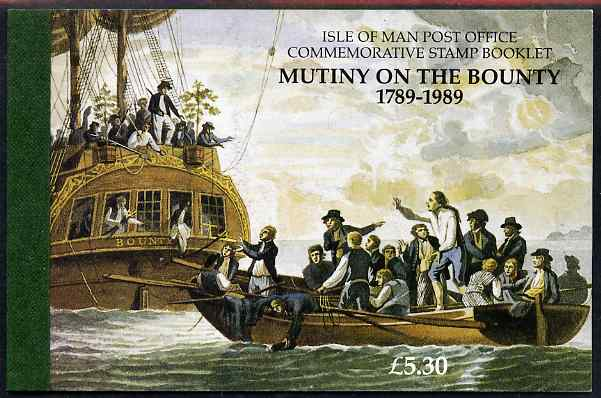 Booklet - Isle of Man 1989 Mutiny on the Bounty �5.30 booklet complete and very fine, SG SB20