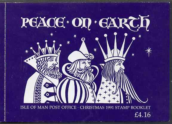 Booklet - Isle of Man 1991 Christmas \A34.16 booklet complete and very fine, SG SB28