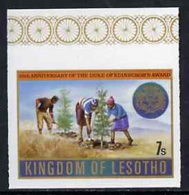 Lesotho 1981 Duke of Edinburgh Award Scheme 7s Tree Planting imperf unmounted mint, pairs & gutter pairs available - price pro-rata, SG 463var