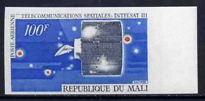 Mali 1970 Space Telecommunications 100f Intelstat Satellite unmounted mint imperf from limited printing, as SG 233
