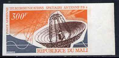 Mali 1970 Space Telecommunications 300f Dish Aerial unmounted mint imperf from limited printing, as SG 235