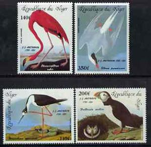Niger Republic 1985 Birth Bicentenmary of John Audubon (Birds) unmounted mint set of 4, SG 1021-24