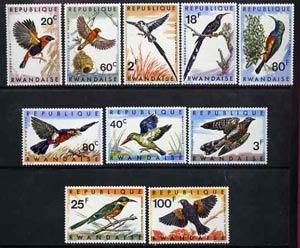 Rwanda 1967 Birds ofRwanda unmounted mint set of 10, SG 239-48*