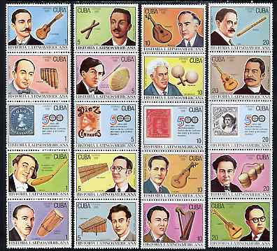 Cuba 1991 Latin American History (6th Series - Music) set of 20 unmounted mint, SG 3666-85