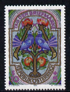 Austria 1996 Stamp Day (Letters M & T) 10s+5s unmounted mint, SG  2430