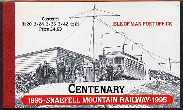 Booklet - Isle of Man 1995 Centenary of Snaefell Mountain Railway \A34.63 booklet complete and very fine, SG SB39