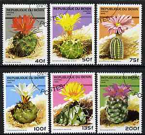 Benin 1996 Cacti complete set of 6 values cto used SG 1407-12