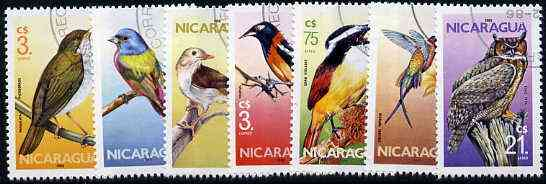 Nicaragua 1986 Birds complete set of 7 very fine cto used, SG 2724-30*