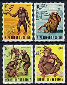 Guinea - Conakry 1969 Tarzan (Chimpanzees) set of 4 fine cto used, SG 689-92, Mi 532-35*